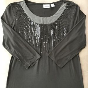 Chico's brown top in size M